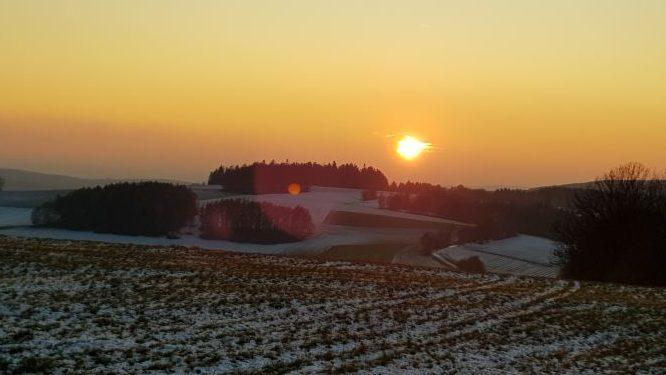 Abendsonne Maulkuppe UteStraub